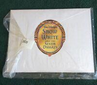 """""""SNOW WHITE & THE SEVEN DWARFS"""" EXCLUSIVE DISNEY LITHOGRAPH PORTFOLIO NEW SEALED"""