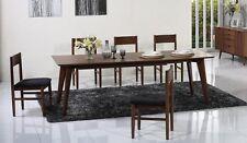Walnut Mid Century Style Extendable Dining Table