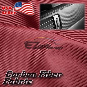 "Carbon Fiber Fabric Cloth Marine Vinyl 54"" Wide Plain Weave Upholstery Auto"