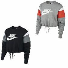 Nike Sportswear Womens Fleece Crew Sweater Top Ladies Sweatshirt Longsleeves