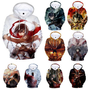 Japan Anime Attack on Titan Hoodies Cosplay Costume Jacket Pullover Sweatshirts