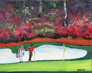 Augusta Masters Golf Course Original Art PAINTING DAN BYL Contemporary 4ft x 5ft