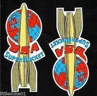 "2 X ""BSA SUPER ROCKET"" MOTORCYCLE STICKER / DECAL ARIEL CAFE RACER TRIUMPH HOG"