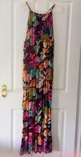 Damas Para mujeres Niñas George ASDA Floral Black Beach Cami Maxi Vestido Talla 20 Nuevo