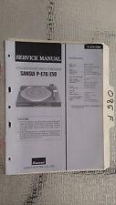 Sansui p-e70 e50 service manual original repair stereo turntable record player