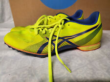 ASICS Mens G502y Yellow/Blue Running Shoes Track Spikes Size 8.5