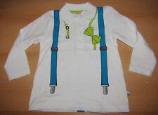 Baby Jungen Poloshirt GR.74 Hosenträger Fliege Aufdruck festlich NEU