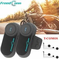 2x Bluetooth Intercom Motorcycle Helmet Interphone Headset with Soft Mic Speaker