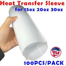 100pc Sublimation Shrink Wrap Film Heat Sublimation Shrink Wrap Tube For Tumbler