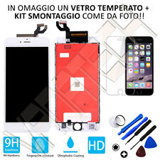 TOUCH SCREEN LCD DISPLAY RETINA FRAME PER APPLE IPHONE 6S PLUS BIANCO GLS 24/48H
