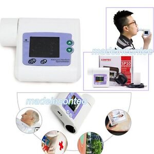 CE Handheld Spirometer Lung Volume Pulmonary Function+PC Software SP10 CONTEC