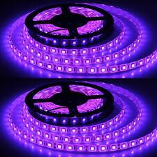 Purple led strip car lighting ebay 2x waterproof purple 5m 300 leds 60ledsm 5050 smd led flexible strip light 12v aloadofball Images