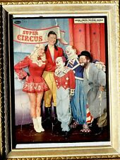 """TV'S FAMED """"SEALTEST CIRCUS"""" - FRAMED 1954 COLOR PUZZLE with MARY & CAST!!"""