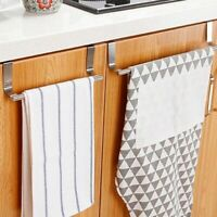 Towel Rack Hanger Holder Kitchen Cabinet Over Door Storage Shelf Stainless Steel