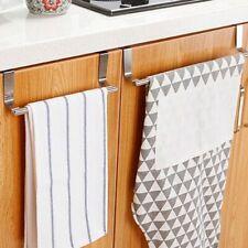 Towel Rack Hanger Holder Kitchen Cabinet Over Door Storage Shelf Stainless Steel