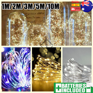 1-10M LED String Battery Powered Copper Wire Fairy Lights Xmas Wedding Party AUS
