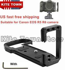 L Plate Bracket Camera Grip dock Holder for Canon EOS R5 R6 Cameras (black/Red)