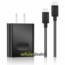 New OEM Huawei USB Type-C 3A Universal Fast Rapid Black Wall Charger w/ Cable