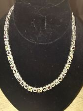 Ladies Sterling Silver And Semi Precious Stone Necklace