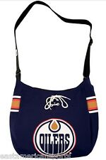 Edmonton Oilers NHL Veteran MVP Jersey Messenger Tote Bag Purse Case Littlearth