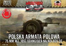 First to Fight 1/72 Schneider 75mm Polish Field Cannon on DS Wheels # 045