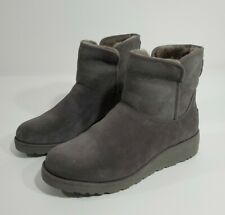 Ugg Australia sz 8.5 Kristen Boots Grey Womens short gray wedge 1012497