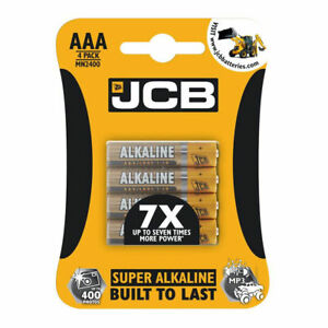 JCB AAA SUPER ALKALINE  4 X 1.5V 1.5 VOLT LR03 BATTERY CELL GENUINE BATTERIES