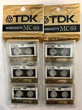Lot of 6 TDK MC60 Microcassette - Brand New Sealed