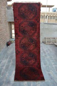 2'3 x 6'8 Feet Antique Handmade Afghan Turkman Elephant Foot Design Filpai