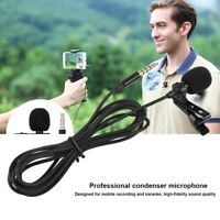 3.5mm Lavalier Microphone External Clip-on Lapel For iPhone SmartPhone Recording