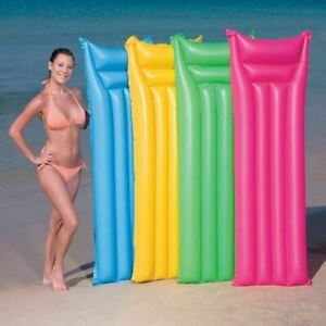 Inflatable Pool Float Air Mattress Airbed Economat Pool Lilo Blow Up Mat