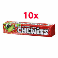 10 x CHEWITS STRAWBERRY Flavor Chewy Candy 29g 1oz
