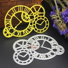 Metal Clock Cutting Dies Stencils Scrapbooking Embossing Cut Paper Craft Decor
