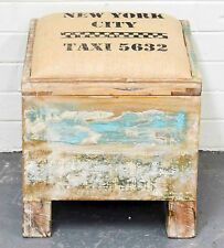 NEW Recycled Timber Shabby Chic Distressed Country Blanket Box Storage Seat
