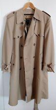 Men's Christian Dior Trench Coat 42S Short Cream Beige Rain Jacket
