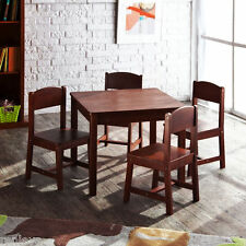 NEW KidKraft Sturdy Farmhouse Wooden Table and Chair Set for Kids