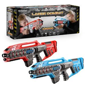 Laser Tag Game Kids Electronic 2 Blaster Gun Battle Set 60m Shooting Range