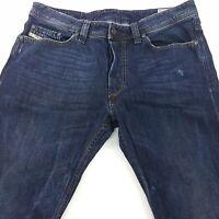 Diesel VIKER Mens Jeans W34 L32 Dark Blue Regular Fit Straight Mid Rise