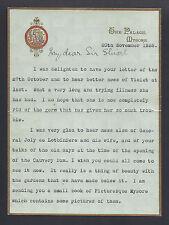 Maharaja Krishnaraja Wadiyar IV of Mysore Signed Letter Sir Stuart Fraser 1939