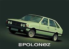 POLONEZ Polski FSO   Polish CAR old advert LARGE METAL TIN SIGN POSTER