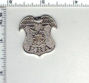 New Jersey P.B.A. 1-Inch Mini Pin - silver