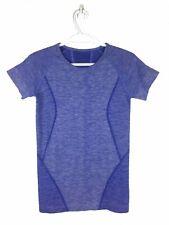 Zella Woman Purple Seamless Compression Yoga Workout Activewear Top Size Sm EUC