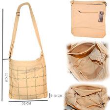 Karierte Damentaschen aus Kunstleder mit Innentasche (n)