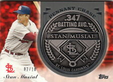 2013 Topps Update Pennant Chase Coins Steel #SM Stan Musial Cardinals /10