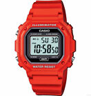Casio Digital Chronograph Watch, Red Resin, Alarm, 7 Year Battery, F108WHC-4A