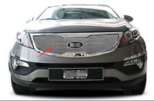 stainless Steel Front Grille Grill cover trims For KIA Sportage 2012 2013