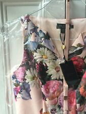 Ted Baker Printed Floral Dress BNWT New With Tags Size 1 Wedding Sold Out Gift