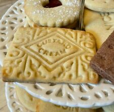 Custard Cream biscuit cookie cutter icing embosser stamp cutter