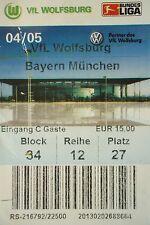 TICKET 2004/05 VfL Wolfsburg - Bayern München