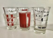 Alfred Hitchcock Collectible Shot Glasses, Classic Movies, Set Of 10!